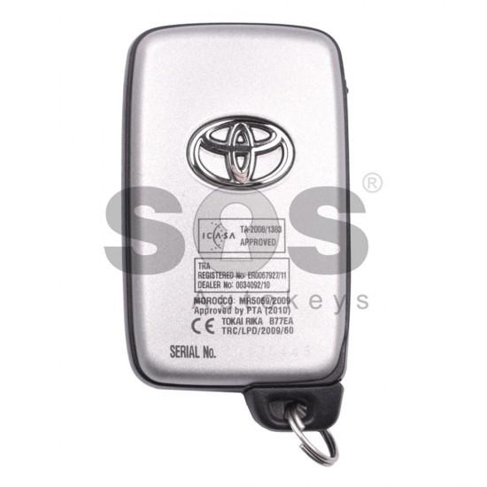 Оригинален смарт ключ за Toyota Corolla с 2+1 бутона 433MHz