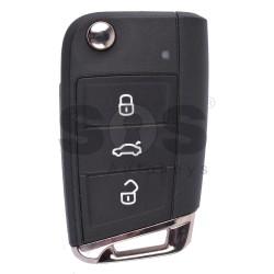 Оригинален сгъваем ключ за VW Golf 7 с 3 бутона 434 MHz