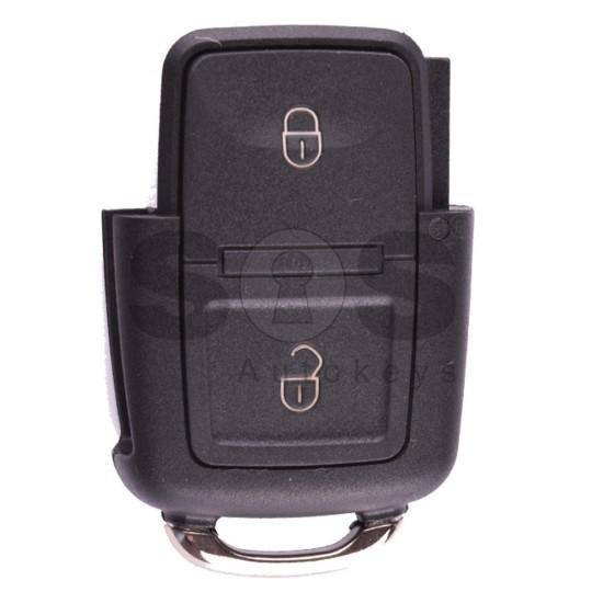 Сгъваем ключ за коли VW Passat / Bora / Golf 5 / Polo / Transporter с 2 бутона Честота - 433 MHz - само дистанционно