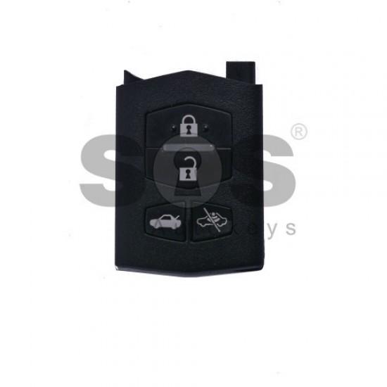 Оригинален сгъваем ключ за коли Mazda 6/MX5 с 4 бутона 433MHz