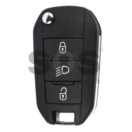Сгъваем ключ за коли Peugeot с 3 бутона 434 MHz