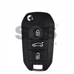 Оригинален сгъваем ключ за коли Citroen 2014 + с 3 бутона 433 MHz