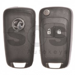 Сгъваем ключ за Vauxhall Astra J/Insignia с 2 бутона 433MHz