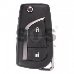 Оригинален сгъваем ключ за коли Toyota Avensis/Aygo с 2 бутона 434 MHz