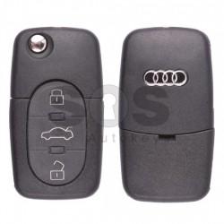 Сгъваем ключ за коли Audi A6/TT с 3 бутона - 433 MHz - само дистанционно