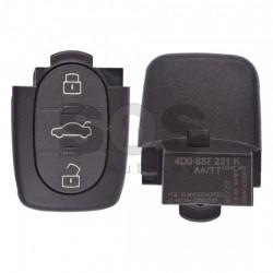 Оригинален сгъваем ключ за коли Audi A6/TT с 3 бутона - 433 MHz - само дистанционно