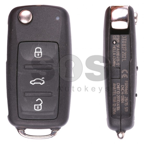 Ключ за коли Skoda с 3 бутона 434 MHz
