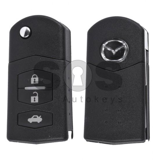 Сгъваем ключ за коли Mazda 2,3,6 с 3 бутона Честота - 434 MHz