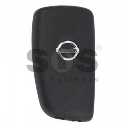 Оригинален сгъваем ключ за коли Nissan с 2 бутона 433 MHz Транспондер - PCF 7961A
