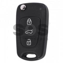 Оригинален сгъваем ключ за коли Hyundai с 3 бутона - 433 Mhz - PCF 7936 - HITAG 2