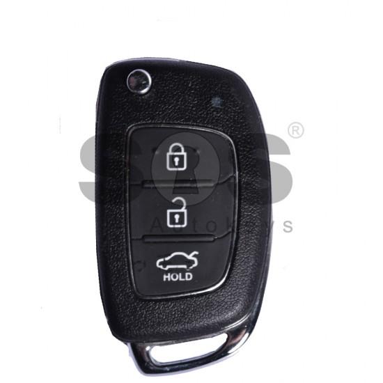 Оригинален сгъваем ключ коли за Hyundai с 3 бутона - 433 MHz