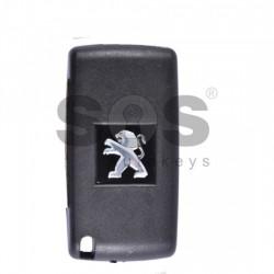 Оригинален сгъваем ключ за коли Peugeot 207/307/3008/Partner с 3 бутона 433 MHz