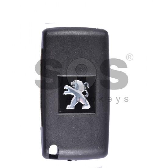 Сгъваем ключ за коли Peugeot 207/307/3008/Partner с 3 бутона 433 MHz