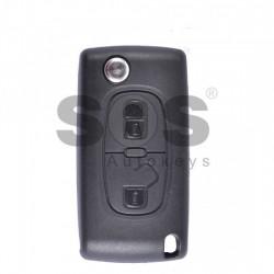 Оригинален сгъваем ключ за коли Peugeot 207/307/3008/5008/Partner с 2 бутона 433 MHz