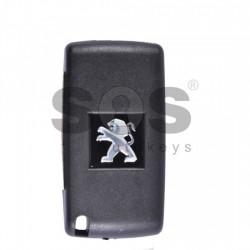 Оригинален сгъваем ключ за коли Peugeot с 2 бутона 433 MHz