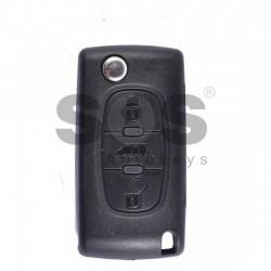 Оригинален сгъваем ключ за коли Citroen с 3 бутона - PCF 7941 A
