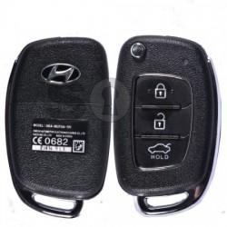 Сгъваем ключ за коли Hyundai с 3 бутона 433MHz HITAG 128-Bit AES