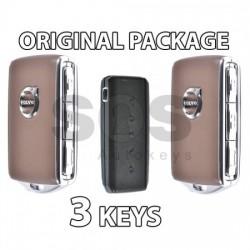 Оригинален пакет - 2 смарт ключа за XC90 Keyless Go HUF8432 Черен и Кафяв