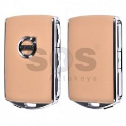Оригинален пакет - 2 смарт ключа за Volvo XC90 Keyless Go и смарт ключ HUF8432 (бежов и черен)