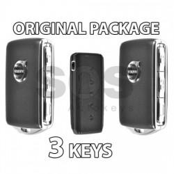 Пакет - 2 смарт ключа за Volvo XC90 HUF8432 Черни