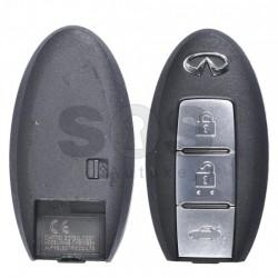 Оригинален ключ за коли Infiniti с 3 бутона 434MHz PCF 7952 NSN14