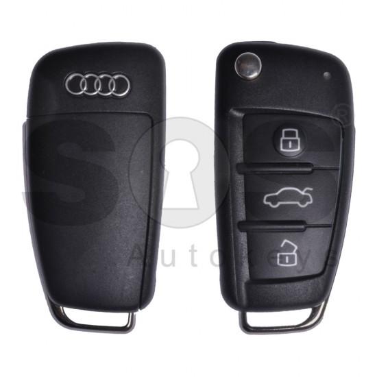 Сгъваем ключ за коли Audi A3 с 3 бутона 434MHz ID48
