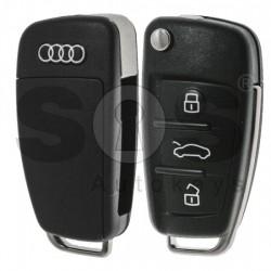 Сгъваем ключ за коли Audi R8 с 3 бутона 433MHz ID 48/Megamos