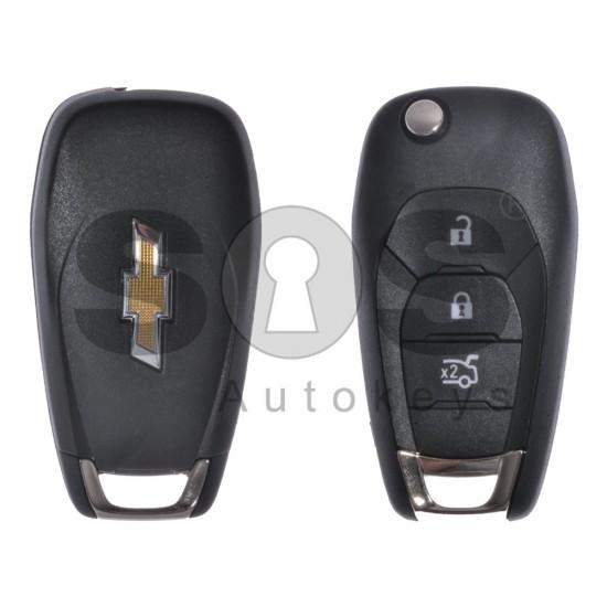 Сгъваем ключ за коли Chevrolet с 3 бутона 433MHz