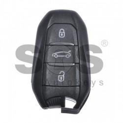 Оригинален смарт ключ за коли Peugeot с 3 бутона 433 MHz HITAG 3 Keyless Go