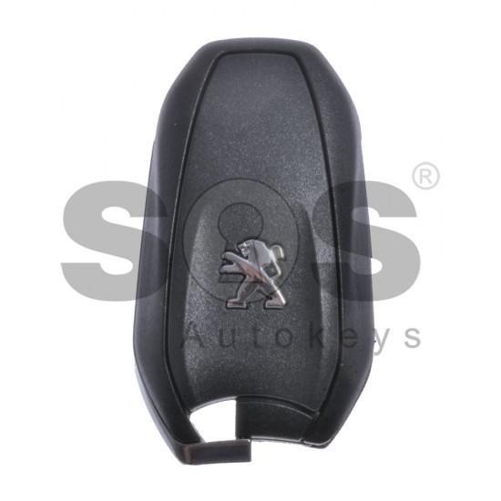 Смарт ключ за коли Peugeot с 3 бутона 433 MHz HITAG 3 Keyless Go