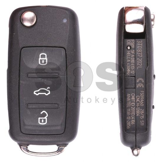 Ключ за коли Skoda Octavia/Fabia с 3 бутона 434 MHz