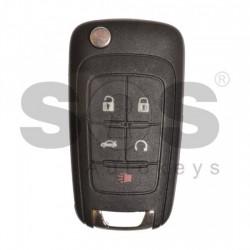 Сгъваем ключ за коли Buick (GM) с  5 бутона - 315 MHz