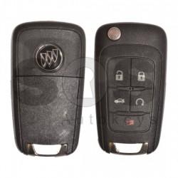 Оригинален сгъваем ключ за коли Buick GM с 5 бутона 315MHz HITAG2 ID46 HU100 Keyless Go