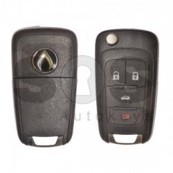 Сгъваем ключ за GM с 4 бутона 434MHz HITAG2/ID46 Keyless Go
