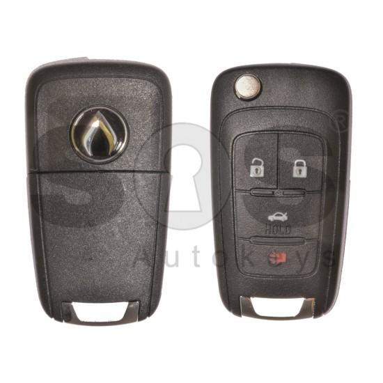 Оригинален сгъваем ключ за GM с 4 бутона 434MHz HITAG2/ID46 Keyless Go