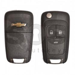 Сгъваем ключ за коли Chevrolet с 3 бутона - 315 MHz HITAG2/ID46