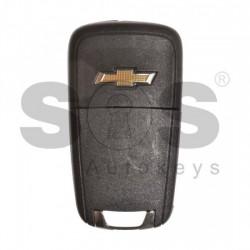 Оригинален сгъваем ключ за коли Chevrolet с 3 бутона - 315 MHz HITAG2/ID46