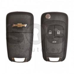 Сгъваем ключ за коли Chevrolet с 3 бутона - 315 MHz Transponder: HITAG2 / ID46