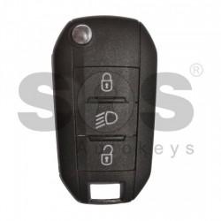 Оригинален сгъваем ключ за коли Peugeot Expert 2016 + с 3 бутона - 433 MHz