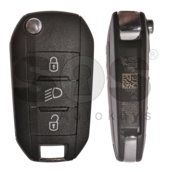 Сгъваем ключ за коли Peugeot Expert 2016 + с 3 бутона - 433 MHz