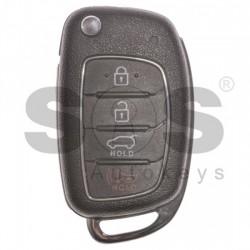 Оригинален сгъваем ключ за коли Hyundai с 3+1 бутона - 433 Mhz
