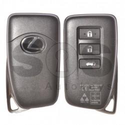 Смарт ключ за коли Lexus с 3 бутона Crypto/ 128-Bit/ AES 433 Mhz с безключово палене