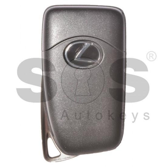 Оригинален смарт ключ за коли Lexus с 3 бутона Crypto/ 128-Bit/ AES 433 Mhz с безключово палене