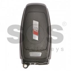 Смарт ключ за коли Audi S-Line с 3 бутона 433MHz с безконтактно запалване (Keyless Go)