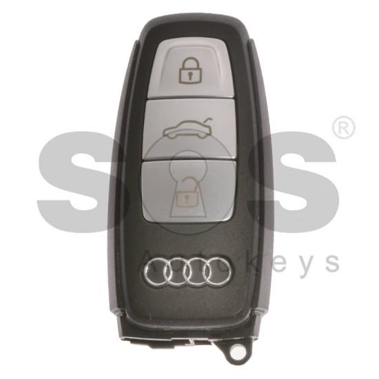 Оригинален смарт ключ за коли Audi S-Line с 3 бутона 433MHz с безконтактно запалване (Keyless Go)