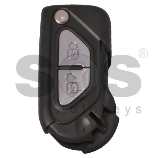 Оригинален сгъваем ключ за Citroen DS3 с 2 бутона 434 MHz