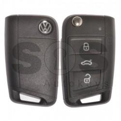 Оригинален сгъваем ключ за VW Golf 7 с 3 бутона 315MHz Keyless Go