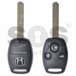 Оригинален ключ за коли Honda с 3 бутона 433MHz HITAG2/ ID46 / PCF7941