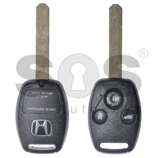 Ключ за коли Honda с 3 бутона 433MHz HITAG2/ ID46 / PCF7941