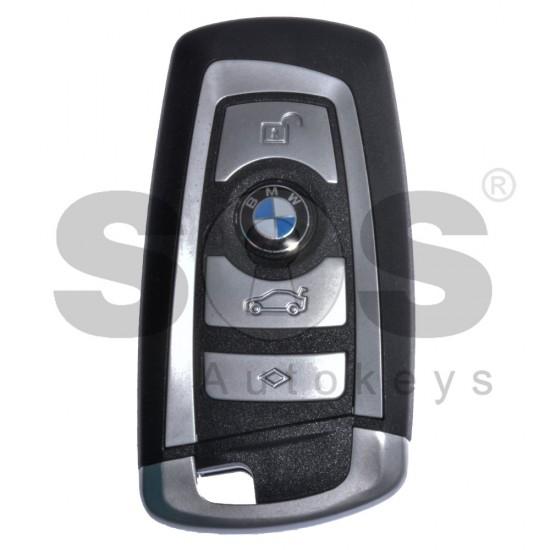 Смарт ключ за BMW F-Series с 4 бутона 433MHz HU100R Keyless Go